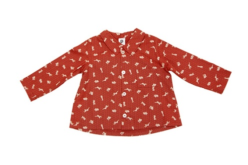 Chemise rouge lapins | 3 ans | 25 €