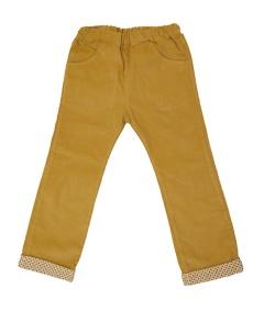 Pantalon à revers en velours moutarde | 6 ans | 20 €