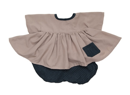 Ensemble robe et bloomer en velours | 3m | 35 €