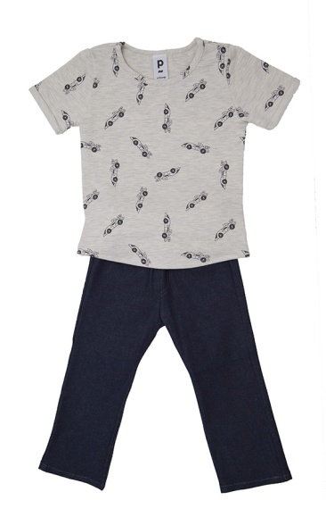 Ensemble T-shirt et son jeans stretch | 4 ans | 48 €