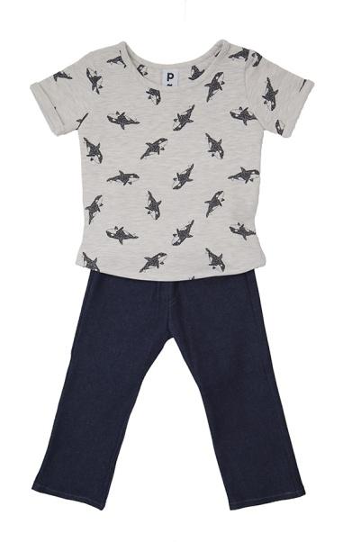 Ensemble T-shirt et son jeans stretch | 3 ans - 6 ans | 48 €