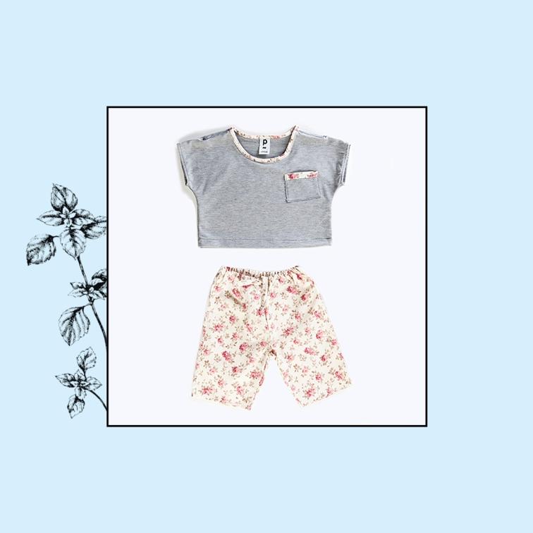 T-shirt ample et court + pantacourt | 12mois, 24mois | 42€