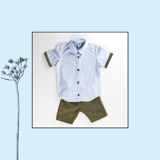 Ensemble chemise + short en jeans | 12/18 mois 48€
