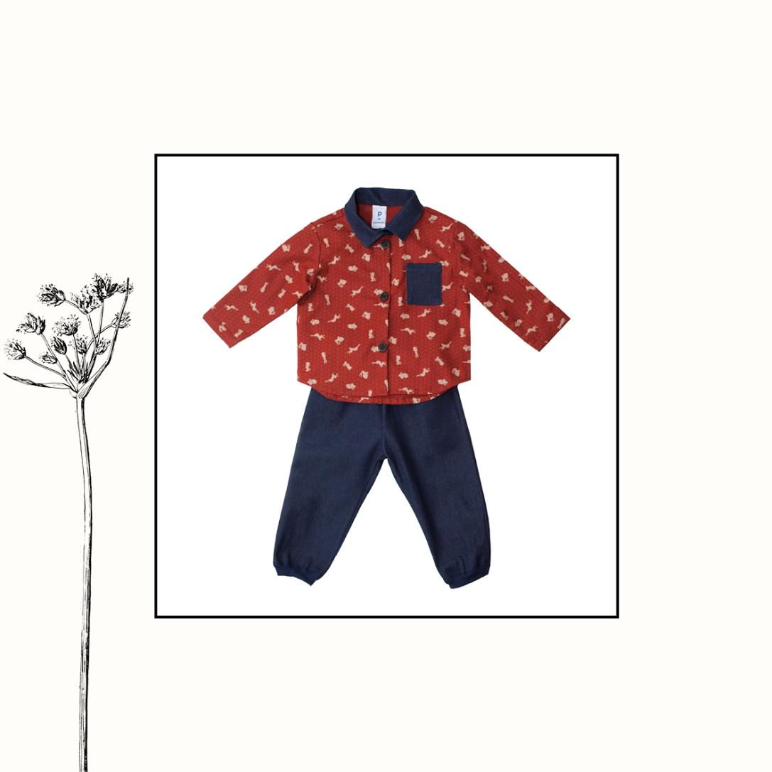 Ensemble chemise lapin + jeans   12mois, 24mois, 4ans   55€