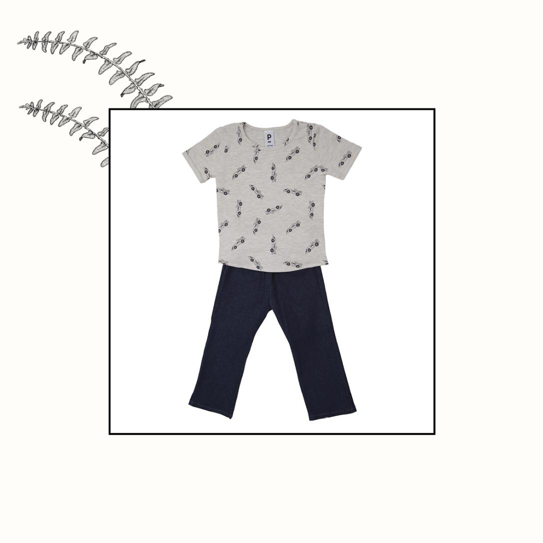 T-shirt jersey + jeans   4 ans   49€