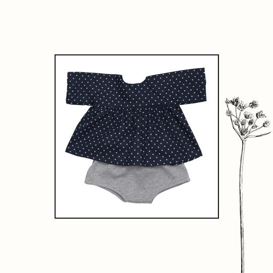 Ensemble blouse + bloomer | 3mois, 9mois | 39€